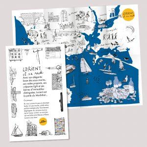 Carte de Lorient et sa rade
